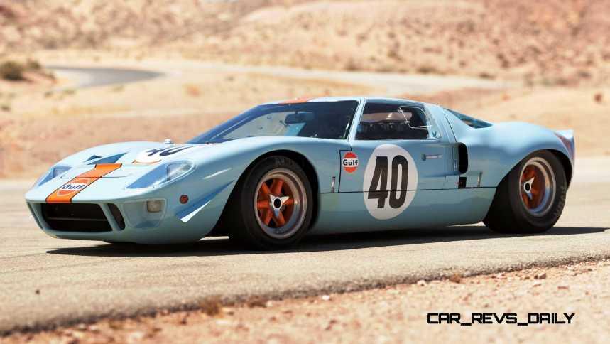 1968 Ford GT40 Gulf Mirage Lightweight LM Racecar 1