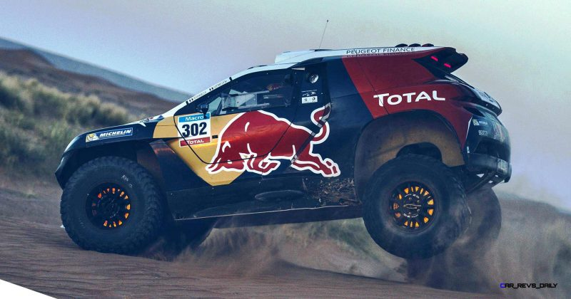 Stephane Peterhansel performs during the Peugeot test in Arfoud, Morocco, on June 15th, 2015