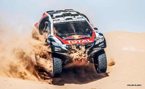 Stephane Peterhansel performs during the Peugeot test in Erfoud, Morocco, on June 17th, 2015