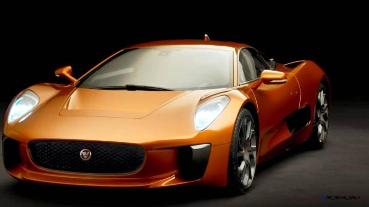 007 SPECTRE Bond Cars - JAGUAR CX-75 Orange 13