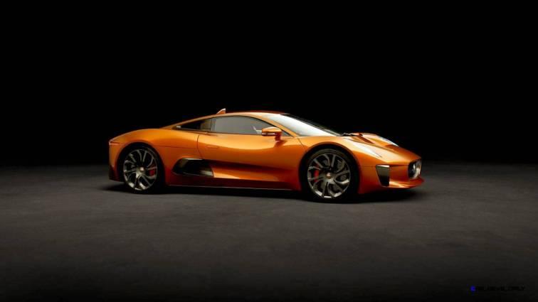 007 SPECTRE Bond Cars - JAGUAR CX-75 Orange 2