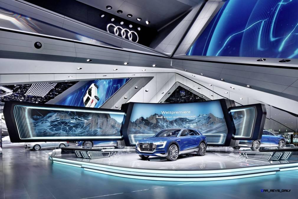 Audi booth at the Frankfurt International Motor Show 2015