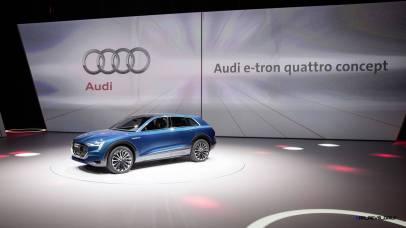 The Audi e-tron quattro concept at the Volkswagen Group Night – IAA 2015 in Frankfurt.