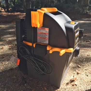 Emerson WORKSHOP 5HP Portable Wall Mount WetDry Vac 4