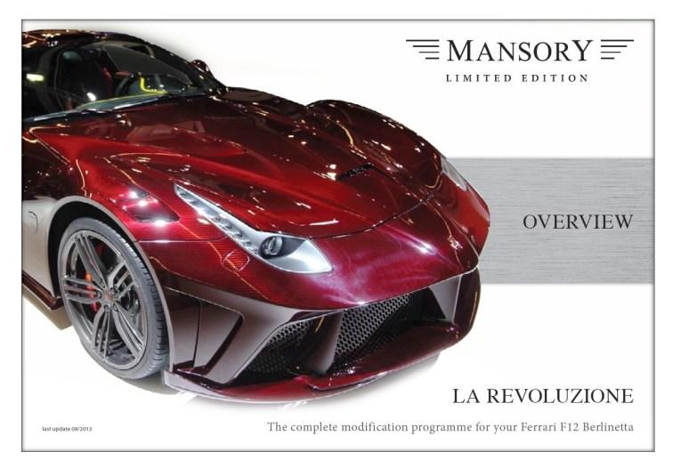 MANSORY Ferrari F12 Revoluzione 8