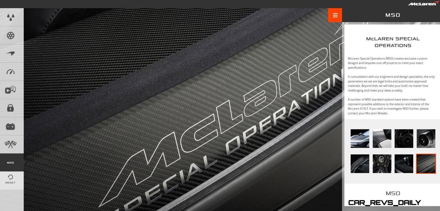2016 McLaren 675LT Spider - Configurator 28