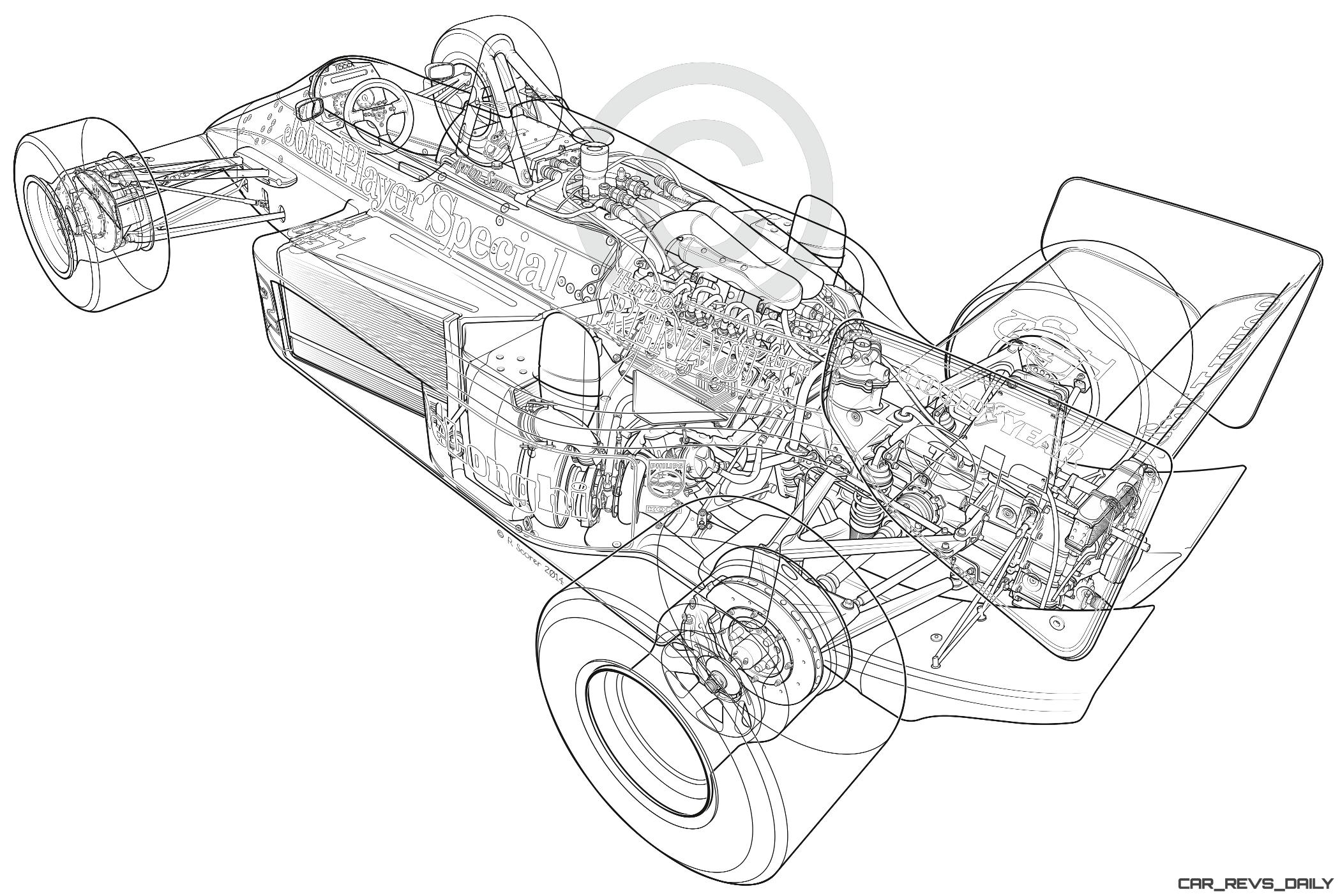 Lotus 98t 3 F1 Car Of Ayrton Senna