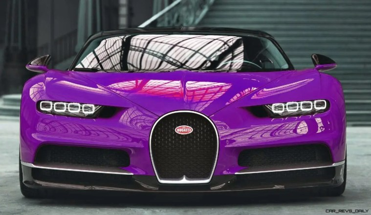 2017 Bugatti CHIRON - Color Visualizer - Draft Renderings 1