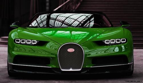 2017 Bugatti CHIRON - Color Visualizer - Draft Renderings 11
