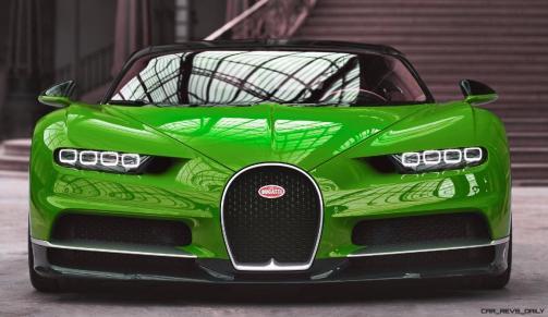 2017 Bugatti CHIRON - Color Visualizer - Draft Renderings 12