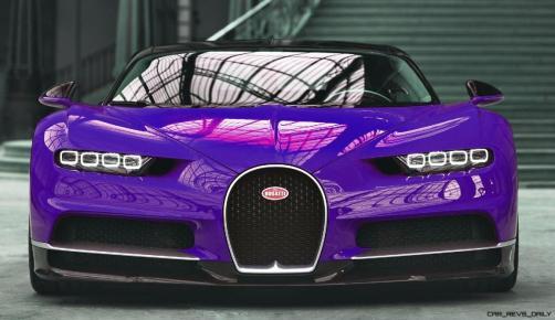 2017 Bugatti CHIRON - Color Visualizer - Draft Renderings 2