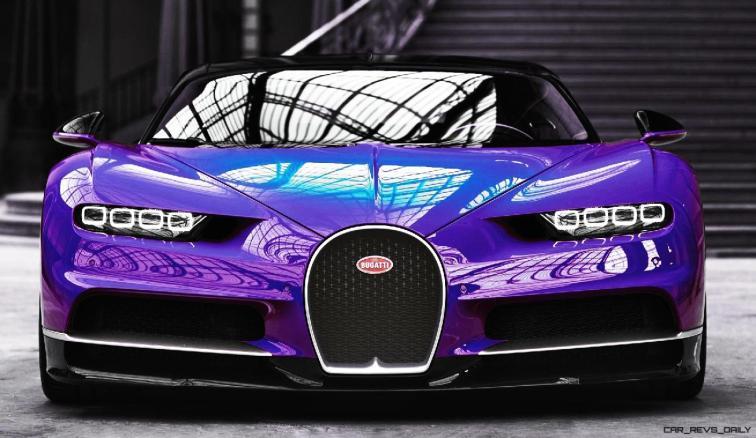 2017 Bugatti CHIRON - Color Visualizer - Draft Renderings 24