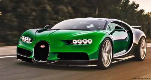 2017 Bugatti CHIRON - Color Visualizer - Draft Renderings 48