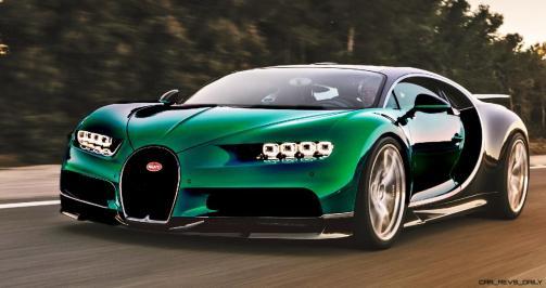2017 Bugatti CHIRON - Color Visualizer - Draft Renderings 49