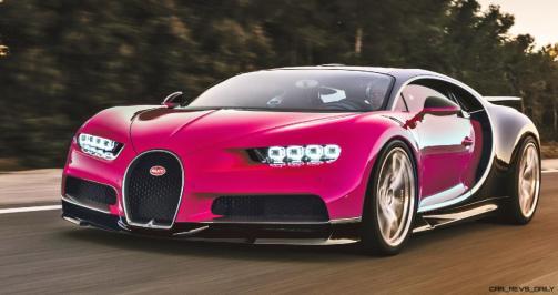 2017 Bugatti CHIRON - Color Visualizer - Draft Renderings 57