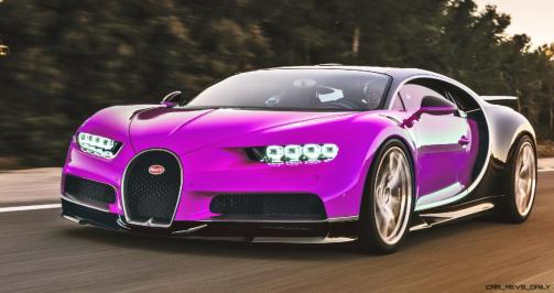 2017 Bugatti CHIRON - Color Visualizer - Draft Renderings 58