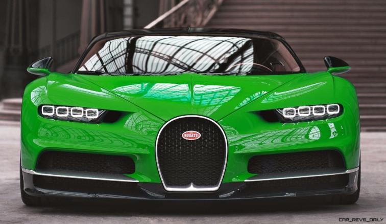 2017 Bugatti CHIRON - Color Visualizer - Draft Renderings 7