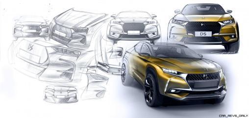20170228 DS 7 CROSSBACK - Design Sketch Montage SUV Front