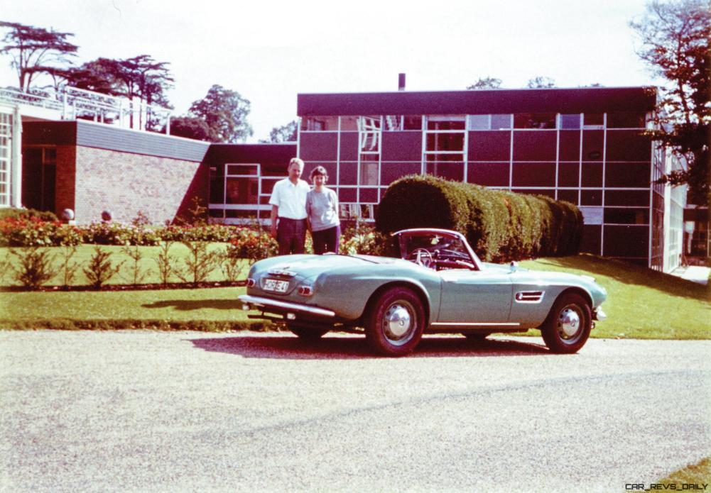 The BMW 507 as seen in Germany in Herman Beliharz's ownership.