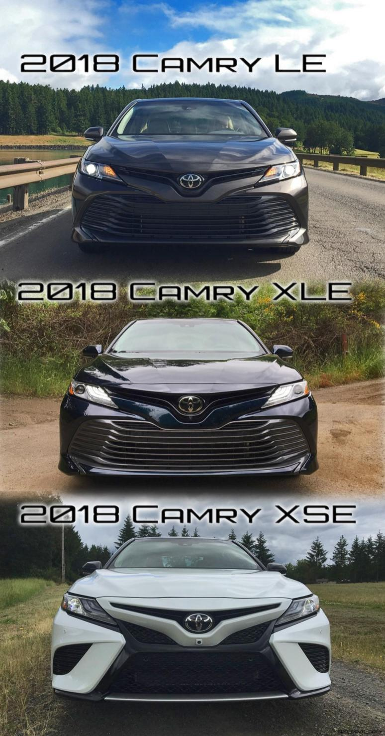 Camry-LE,-XLE-and-XSE-Trim-Comparisons---Nose