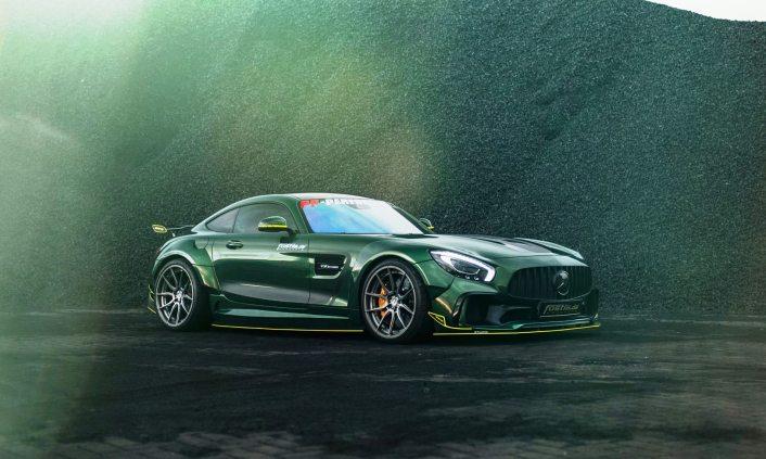 Widebody AMG GTS in Emerald Green 16