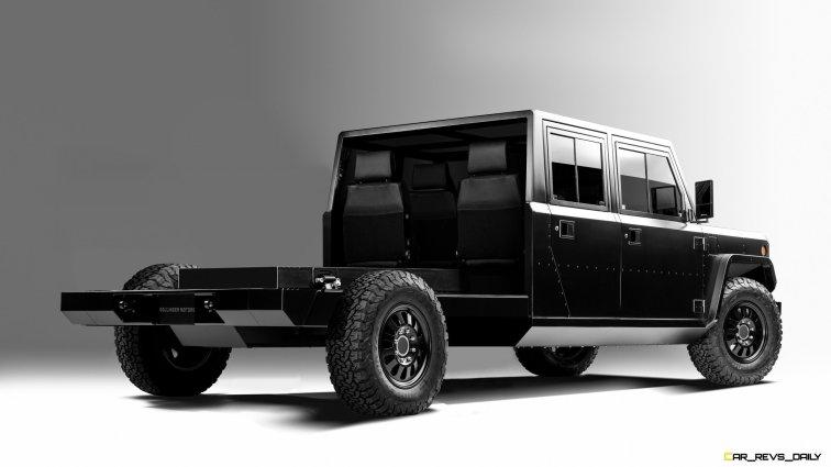 Bollinger Motors B2 Chassis Cab 4 Door Open 3_4 rear