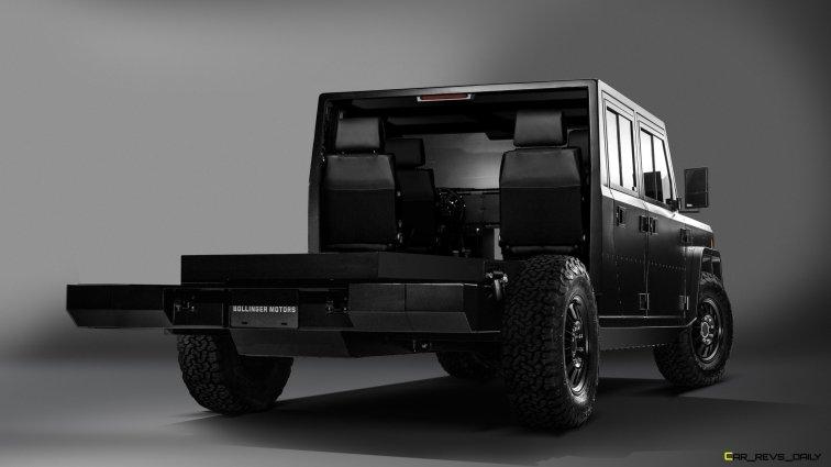 Bollinger Motors B2 Chassis Cab 4 Door Open 7_8 rear