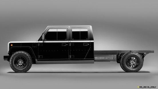 Bollinger Motors B2 Chassis Cab 4 Door side