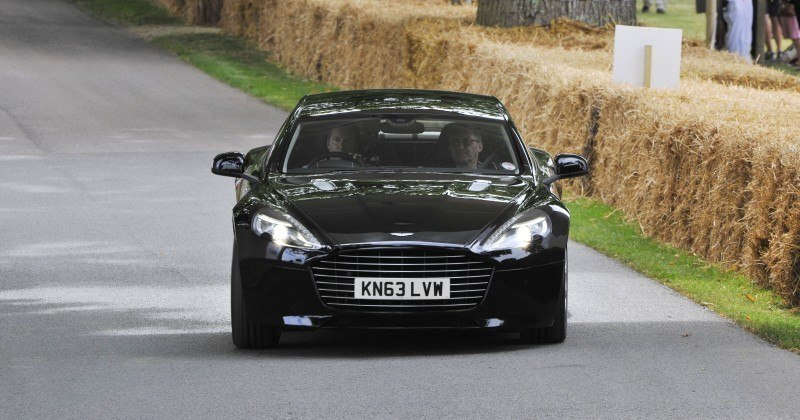 Aston Martin Zings Up Goodwood Hill (to its AMG Future) in Vantage S, Rapide S and Vanquish 15