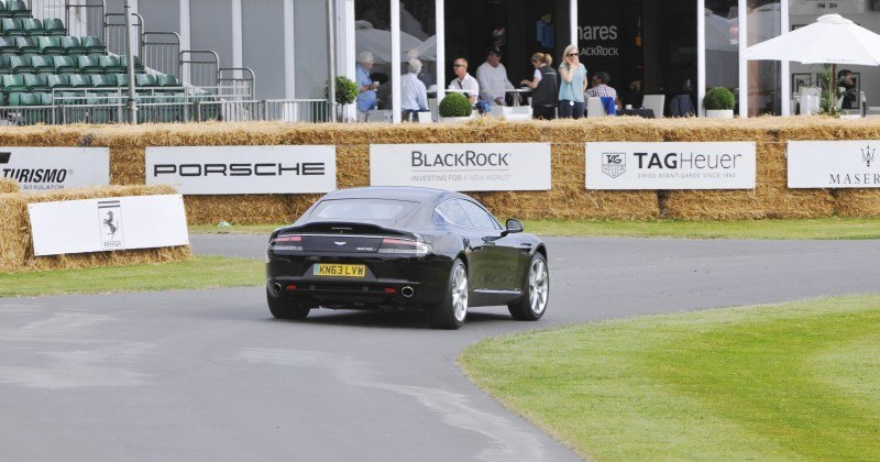 Aston Martin Zings Up Goodwood Hill (to its AMG Future) in Vantage S, Rapide S and Vanquish 18