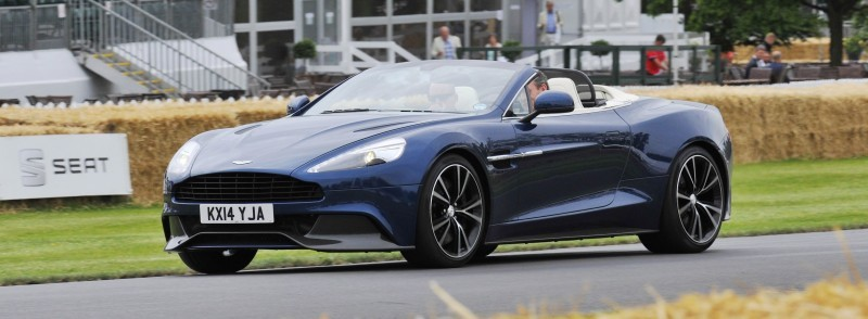 Aston Martin Zings Up Goodwood Hill (to its AMG Future) in Vantage S, Rapide S and Vanquish 5