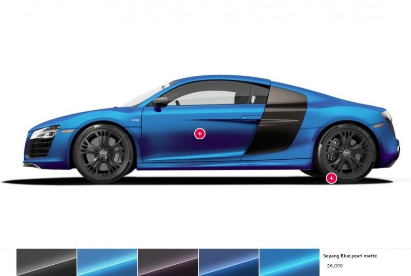 Car-Revs-Daily.com 2014 AUDI R8 V10 Plus in Sepang Matte Metallic Blue 105