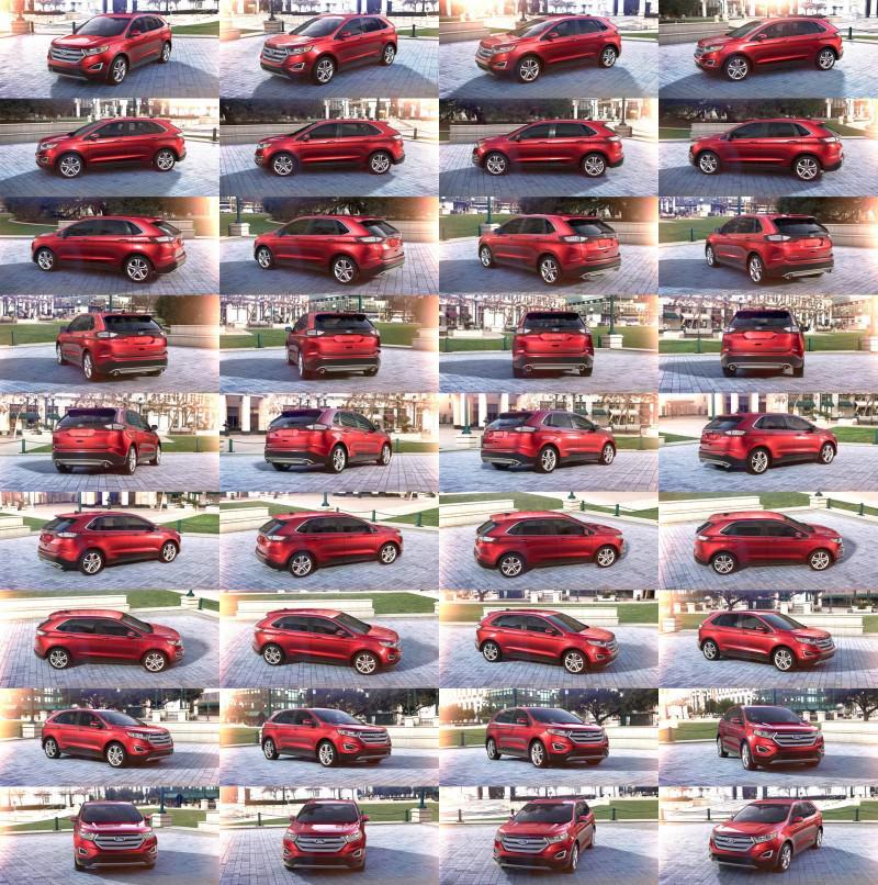 Car-Revs-Daily.com 2015 Ford Edge - RUBY RED 1