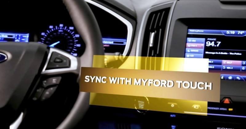Car-Revs-Daily.com 2015 Ford Edge Sport and Titanium INTERIOR 11