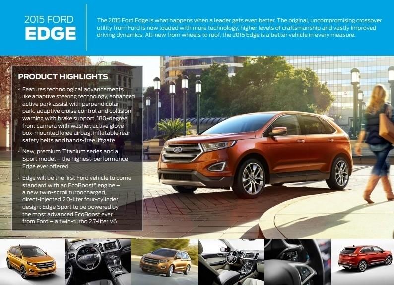 Car-Revs-Daily.com 2015 Ford Edge Sport and Titanium INTERIOR 7