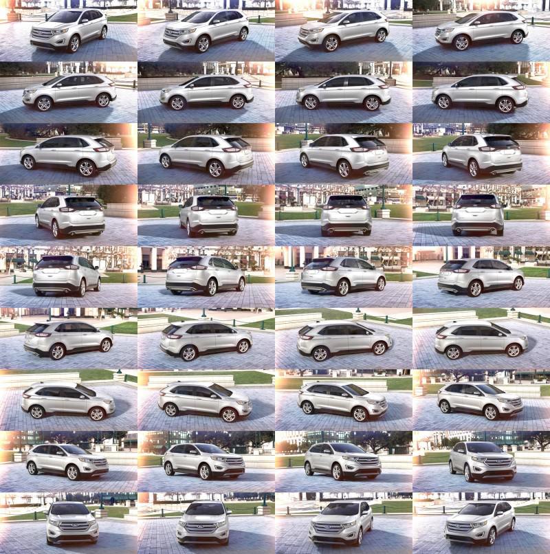 Car-Revs-Daily.com 2015 Ford Edge - White Platinum 1