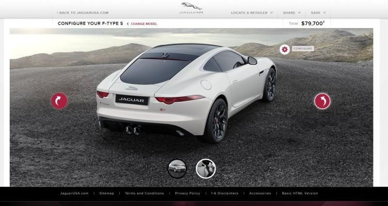Car-Revs-Daily.com 2015 JAGUAR F-Type S Coupe - Options, Exteriors and Interior Colors Detailed48