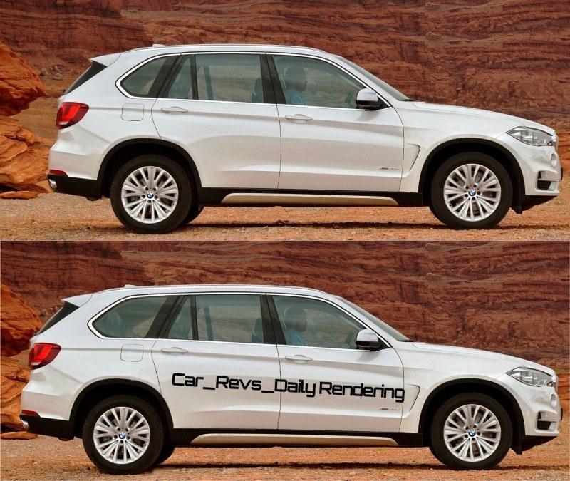 Car-Revs-Daily.com Digital Rendering of 2015 BMW X7 beside 2014 BMW X5