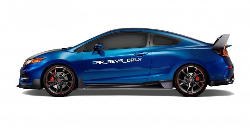 Car-Revs-Daily.com Exclusive 2016 USA Honda Civic Type R Renderings 8