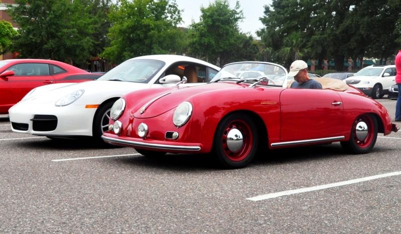 Charleston Cars and Coffee - 1955 Porsche 356 1500S Speedster 14