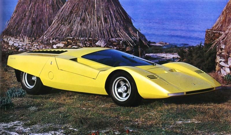 Concept Flashback - 1969 Ferrari 512 S Coupe Speciale by Pininfarina in Leopard Onesite at Granite Mine 1