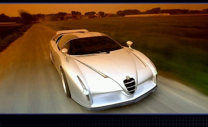 Concept Flashback - 1997 Alfa Romeo Scighera is Mid-Engine Twin-Turbo V6 Hypercar 5