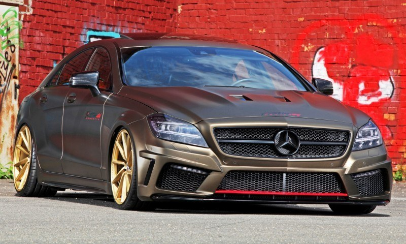 FOSTLA.de Foliation Designs A Wild Mercedes-Benz CLS in Metallic Gold Matte 1