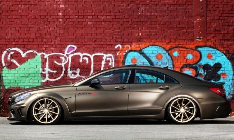 FOSTLA.de Foliation Designs A Wild Mercedes-Benz CLS in Metallic Gold Matte 14