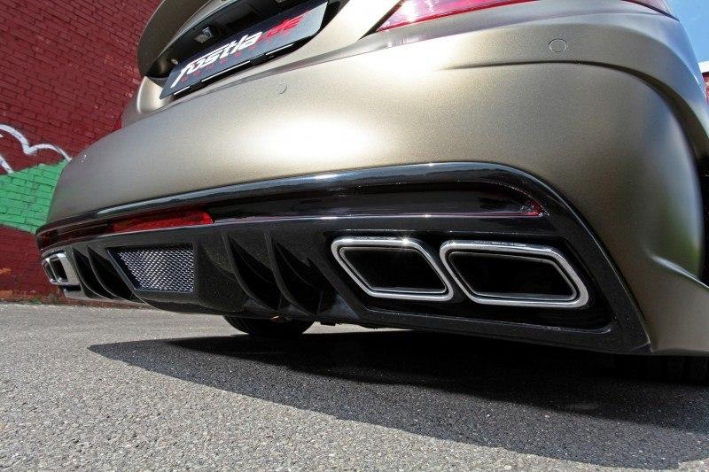 FOSTLA.de Foliation Designs A Wild Mercedes-Benz CLS in Metallic Gold Matte 8