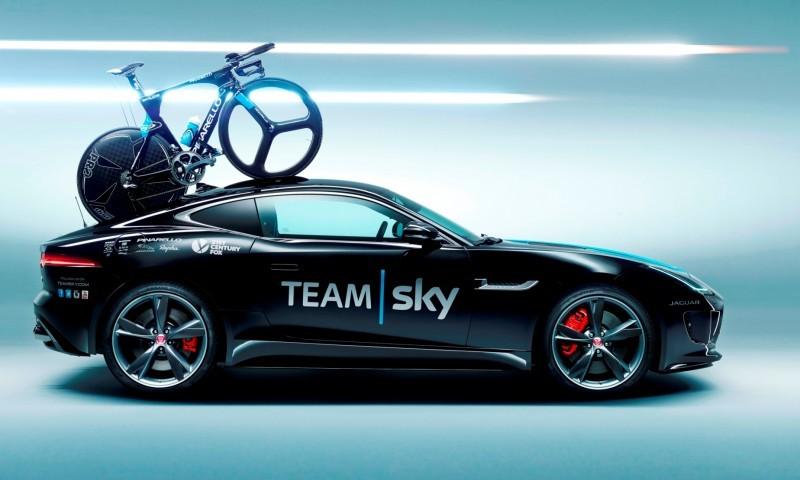 JAGUAR Special Ops F-Type R Coupe and XFR-S SportBrake for Team Sky Tour de France Cyclists 2