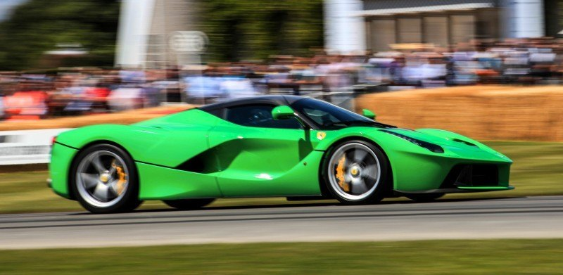 Jay Kay's Green LaFerrari and F12 TRS Spyder Cause Deadly Fanboy Riots at 2014 Goodwood FoS18