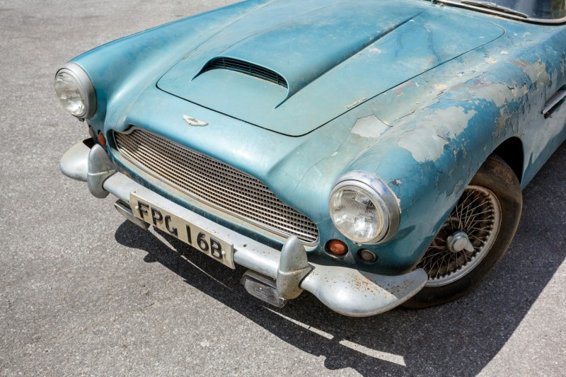 RM Auctions Monterey 2014 Preview - 1961 Aston-Martin DB4 Lost by Castrol Ltd, Found By You 17
