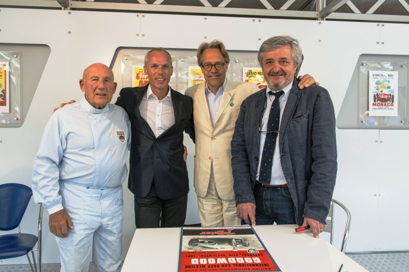 Stirling Moss, Peter Denton, Lord March, Enzo Naso