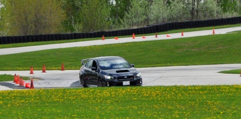 Track Test Review - 2015 Subaru WRX STI Is Brilliantly Fast, Grippy and Fun on Autocross 13